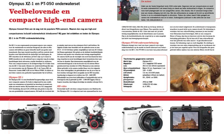 Cameratest: Olympus XZ-1 en PT-050 onderwaterset