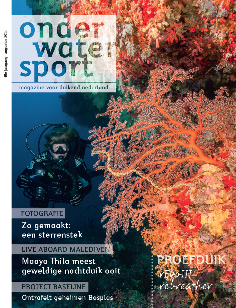 """Malediven cover"" Onderwatersport Magazine"