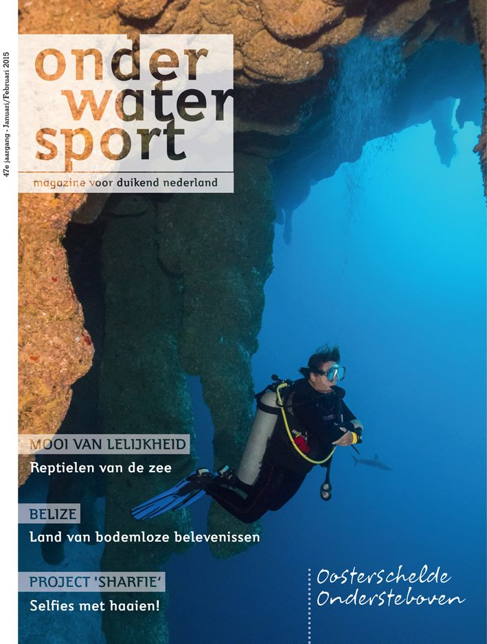 """Belize cover"" Onderwatersport Magazine"
